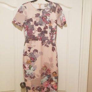 Asos midi floral short sleeve dress size 12